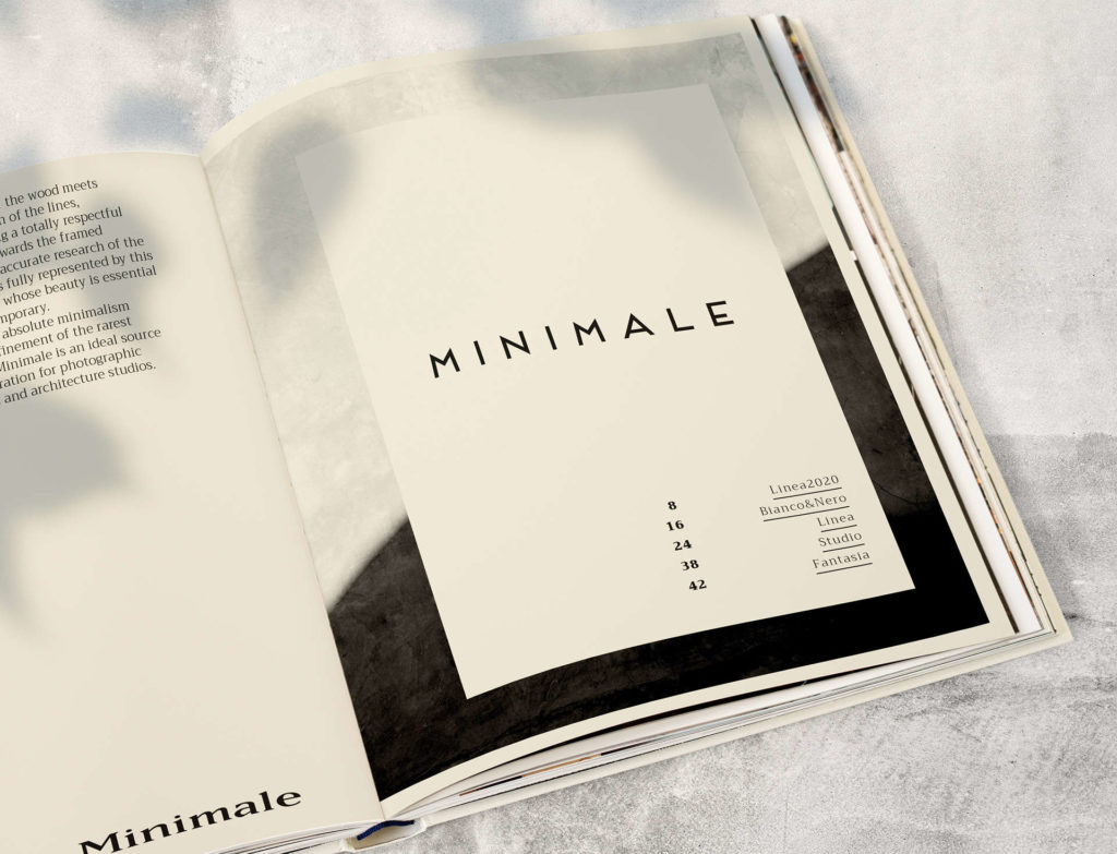Catalogo Minimale - Rosini Cornici - Aste artigianali ingrosso